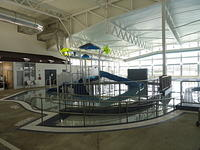 Part of the indoor waterpark.