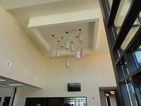 Neat overhead light arrangement.